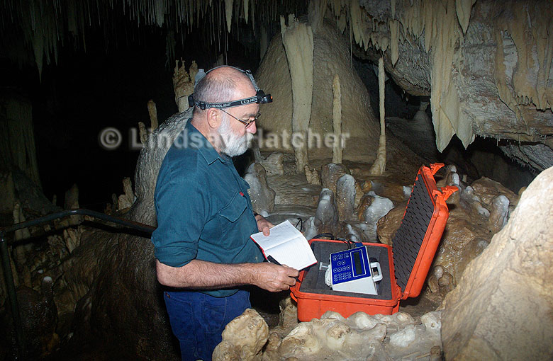 Monitoring water quality, Lake Cave, Margaret River, Western Australia